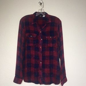 Urban Outfitters BDG red and blue flannel